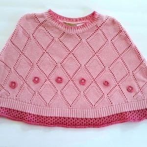 Liz Claiborne Girls Poncho Cape Size 6 Pink